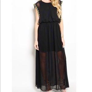 Dresses & Skirts - NWT Partial Sheer Sexy Gorgeous Chiffon Dress
